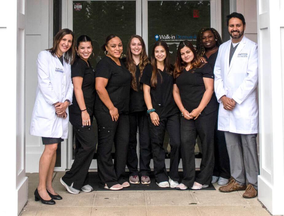 Walk-in Dermatology team