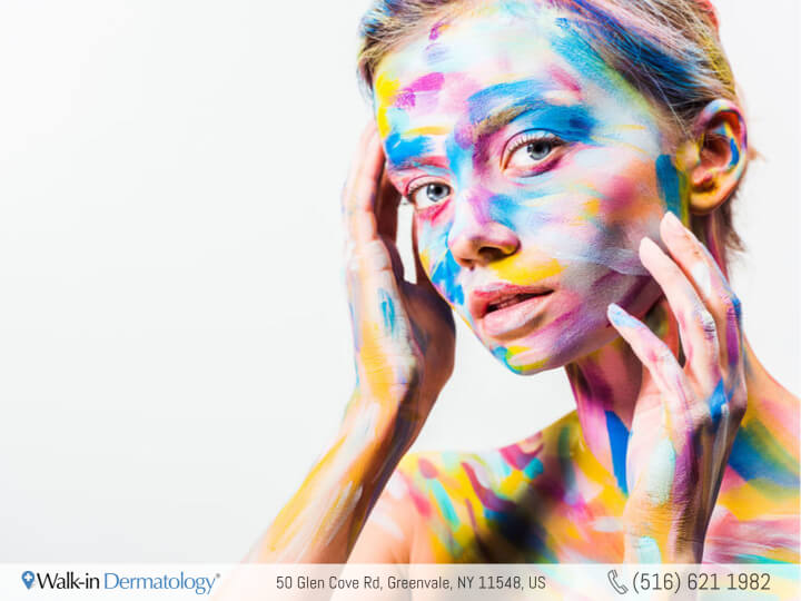 woman with painted face