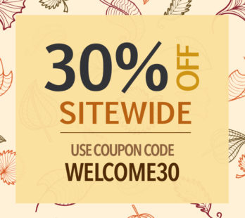30% Off Sitewide | Welcome30