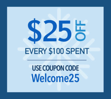 Get $25 off every $100 spent
